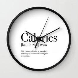 Calories Wall Clock