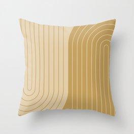 Two Tone Line Curvature XXXVIII Throw Pillow