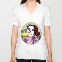 no face V-neck T-shirts featuring Face by Cs025