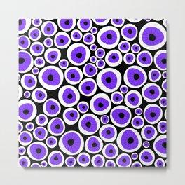 Eye C U | Purple Metal Print