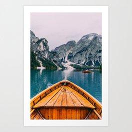 Canoe Mountains (Color) Art Print