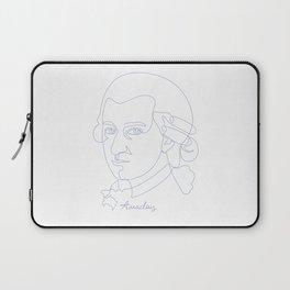 Wolfgang Amadeus Mozart Oneline Blue Laptop Sleeve