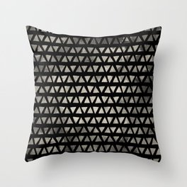 Cream and Black Ink Triangles Throw Pillow