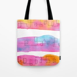 Love Is Always There line drawing pink abstract painting minimal illustration minimalism peaceful Tote Bag