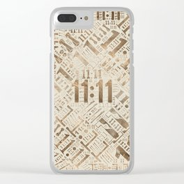 Eleven Eleven Numerology Pattern #2 Clear iPhone Case