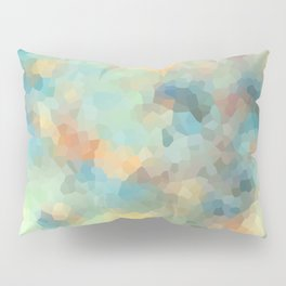 "Colored crystals . ""Sunbeams"" . Pillow Sham"