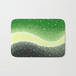 Aromantic Pride Flag Galaxy Bath Mat