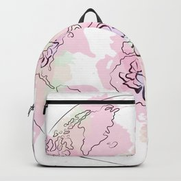 World Map Pink #Globe #graphicdesign Backpack