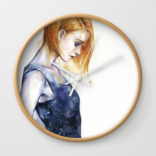 heliotropic girl  Wall Clock