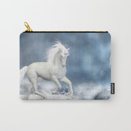 White Unicorn Carry-All Pouch