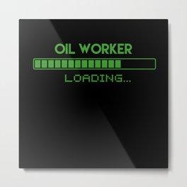 Oil Worker Loading Metal Print