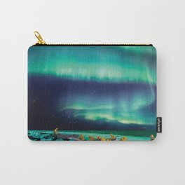 Fishermen Under Northern Lights Carry-All Pouch