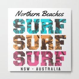 Northern Beaches Surfing Metal Print