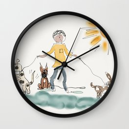 Dog Day Afternoon Wall Clock