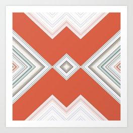orange diamond design Art Print