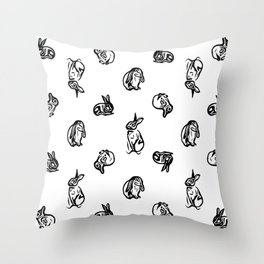 Cottontails. Throw Pillow