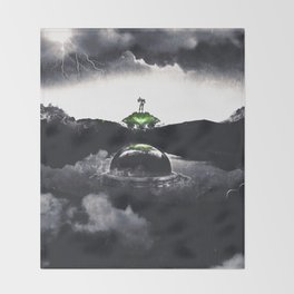 The Landing A Zebes Surrealism Throw Blanket