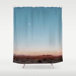 Desert Sky with Harvest Moon Shower Curtain