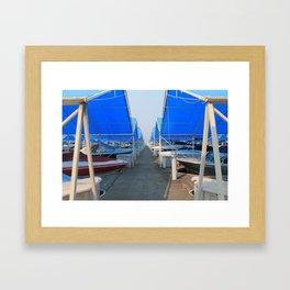 The Blue Docks Framed Art Print