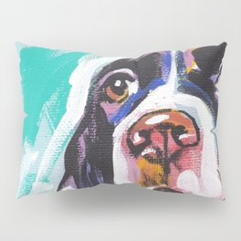 fun English Springer Spaniel bright colorful Pop Art painting by Lea Pillow Sham