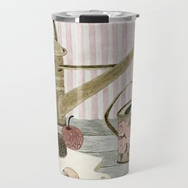 Watering Cans and Apples Travel Mug