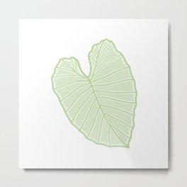 Alocasia Leaf Illustration Metal Print