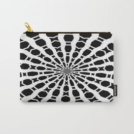 Black And White Bold Stylized Web Kaleidoscope Carry-All Pouch