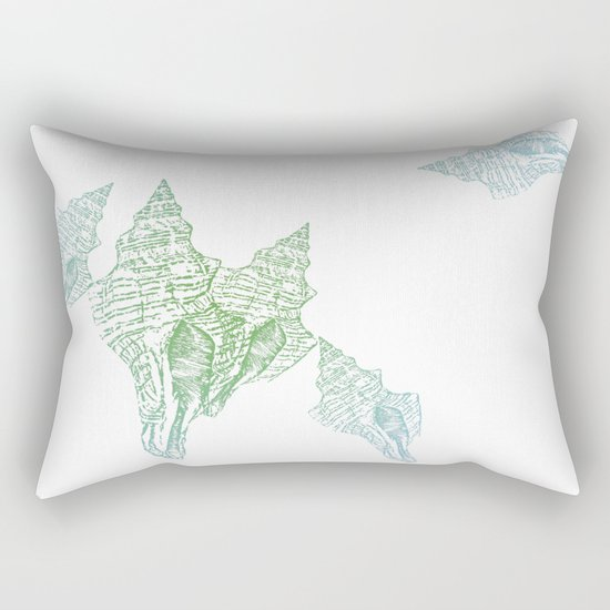 Shells Coloured Rectangular Pillow