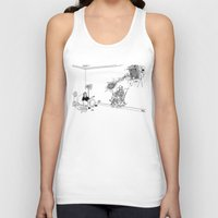 tesla Tank Tops featuring Tesla by Dan Ashwood
