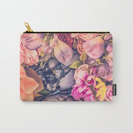 Beautiful background with different flowers Carry-All Pouch