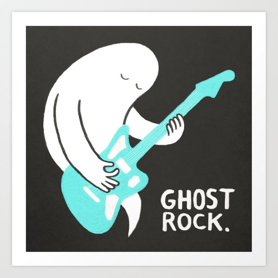 Ghost Rock Art Print