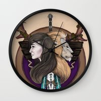 warcraft Wall Clocks featuring Lions! Make You Brave by Emily Anne Daugherty