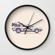 Famous Car #2 - Delorean Wall Clock