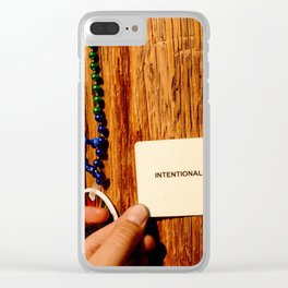 Intentionally Blank Clear iPhone Case