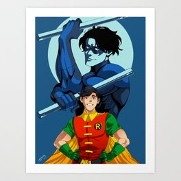 Sidekick to Hero: Nightwing Art Print