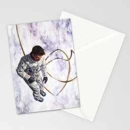 Hovering, Floating in Circles Stationery Cards