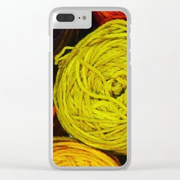 Yarn Love Clear iPhone Case