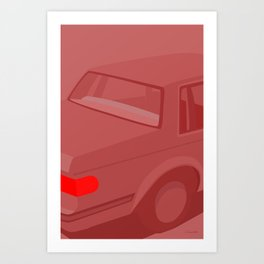 RØD BIL Art Print