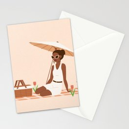 a private picnic in the spring Stationery Cards