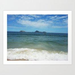 Blue ocean & sky Art Print