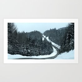 Around the Bend and Up over the Top Art Print
