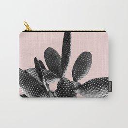 Black Blush Cactus #1 #plant #decor #art #society6 Carry-All Pouch
