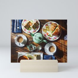 Afternoon Tea and Sandwiches Mini Art Print