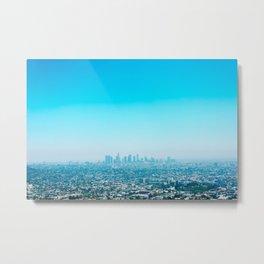 Blue LA Metal Print