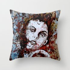 6174/uncuted girl Throw Pillow