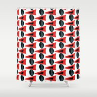 1d Shower Curtains featuring Tribal Times 1D by DarnitaLHoward