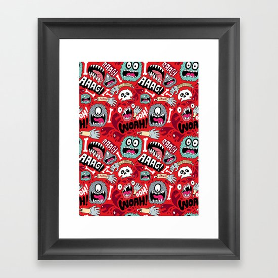 AAAGHHH! PATTERN! Framed Art Print