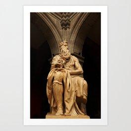 Moises of Michelangelo Art Print