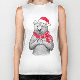 christmas bear #2 Biker Tank