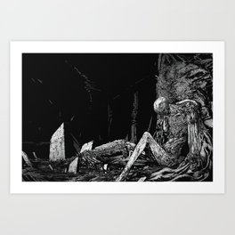 Defeated Art Print
